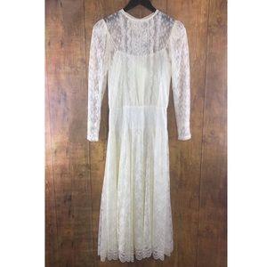 Vintage Scott McClintock Ivory Lace Wedding Dress